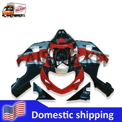 $469.99 • Buy FK Injection Red Black Silver Fairing Fit For Suzuki 2000-2002 GSXR 1000 A015