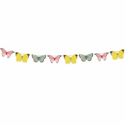 £8.50 • Buy Truly Fairy Party, Butterfly Bunting / Garland, 40 Butterflies - 5 Meters