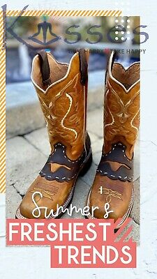 $49.98 • Buy TJAYZ NEW Mens Rodeo Cowboy Boots Genuine Leather Square Toe BOTAS Western Work