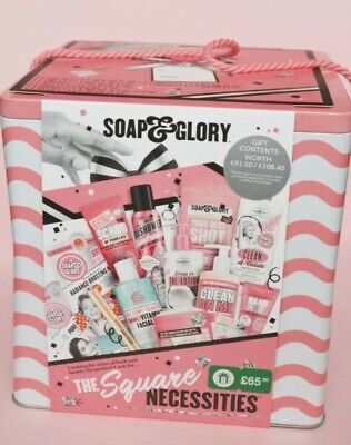 Soap And Glory The Square Necessities Gift Set Tin Brand New Sealed RRP £65 • 55£