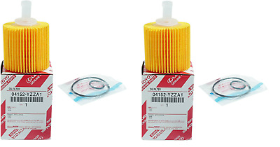 $16.99 • Buy Two(2) Toyota Oem Factory Oil Filter 04152-yzza1 With Drain Plug Gaskets