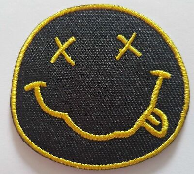 £1.95 • Buy Nirvana Iron On Sew On Patch Embroidered Rock Band Heavy Metal Music Logo Badge
