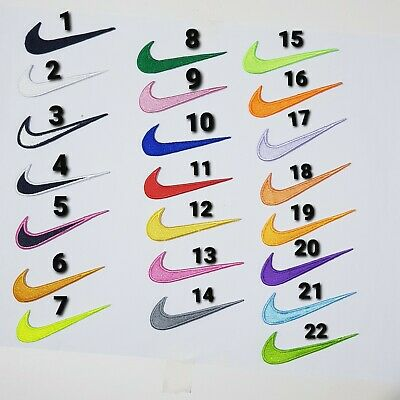 £1.80 • Buy Embroide Nike Sports Badge   Clothes T Shirts  Iron Sew On Patch Logo Set