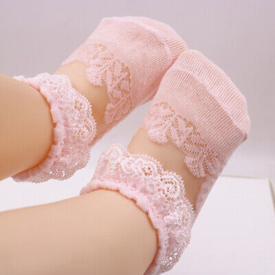 £3.05 • Buy Lace Flower Floral Socks Girl Newborn Toddler Baby Princess Girls First Walkers