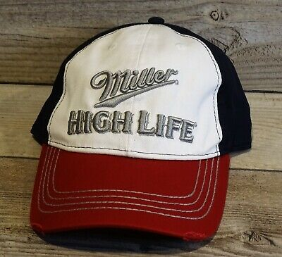 $16.99 • Buy Miller HIGH LIFE Red White & Blue Miller Brewing Co Retro Distressed Hat Cap