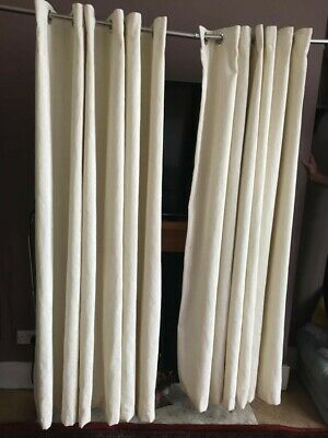 £55 • Buy Pair Of Montgomery Soft Material Ring Eyelet  Curtains Ivory Cream L183 X W230cm