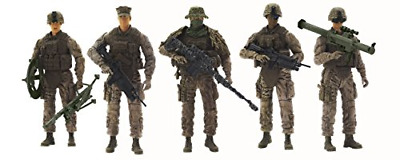 $28.88 • Buy Elite Force Marine Recon Action Figures – 5 Pack Military Toy Soldiers Playset |