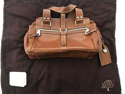 £200 • Buy Mulberry Mabel Natural Oak Leather With Maroon Dust Bag