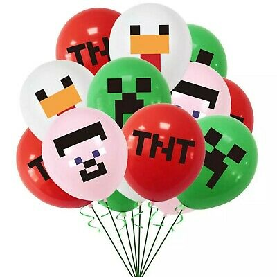 £3.99 • Buy 8-24pcs Minecraft Gaming Latex Party Everyday Balloons