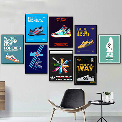$ CDN8.45 • Buy Vintage Retro Old Adidas Casual Trainers Sport Print Poster Wall Art Picture A4+