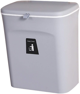 £36.27 • Buy JIXUN Hanging Trash Can With Sliding Cover Built-in Bin Waste Bin With Lid For