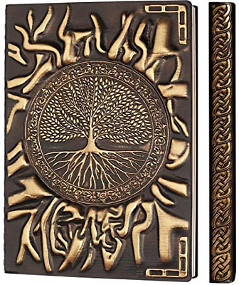 £13.01 • Buy Leather Journal Notebook A5, Embossed Travel Journal Leather Notebook Diary Tree