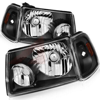 $86.53 • Buy For 2001-2011 Ford Ranger Replacement Headlamps Assembly Black Front Headlights