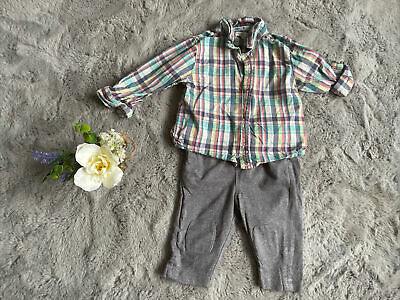 £2 • Buy Baby Boys 6-9 Months Debenhams Outfit Set Shirt And Trousers (A)