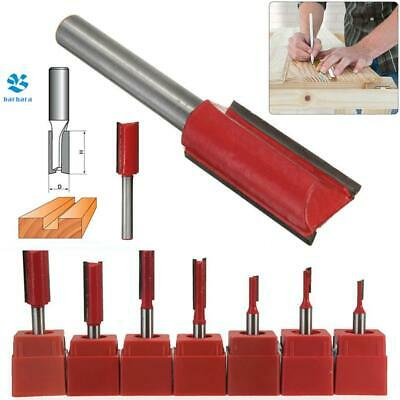 £4.96 • Buy 1/4 Inch Shank Straight Trimming Router Bit Wood Cutting Slotting Milling Cutter