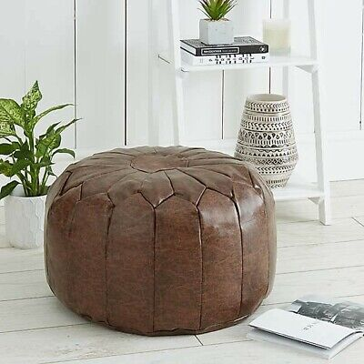 Boasting Morrocan Inspired Round Pouffe Crafted With Stitched  • 45£