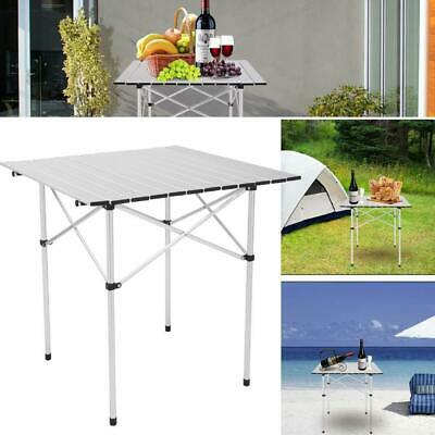 £22.95 • Buy Portable Aluminum Table Folding Camping Desk Tray Outdoor Indoor Picnic W/ Bag