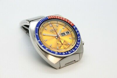 $ CDN1091.82 • Buy Seiko Pogue 6139-6002 Yellow Gold No Mark  Dial Full Length  H-links Pepsi Bezel