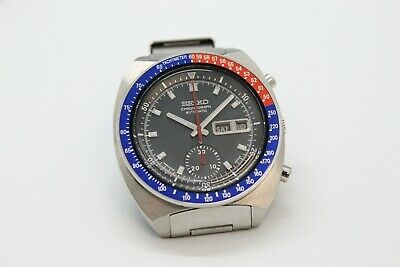 $ CDN1091.82 • Buy Seiko Pogue 6139-6002 Blue  No Mark  Dial Full Length H-links Pepsi Bezel