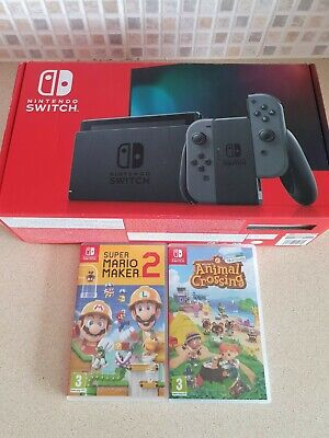 AU442.76 • Buy Nintendo Switch Console Boxed Version 2 2020 With 2 Great Games Inc Mario 🌟🌟🌟