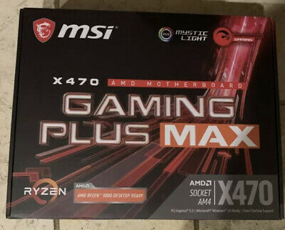 AU161.98 • Buy Msi X470 Amd Motherboard Gaming Plus Max - Brand New