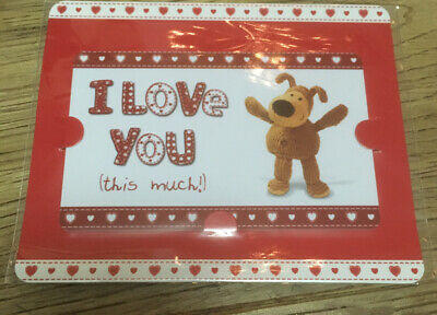 £1 • Buy Boofle Bear Credit Card 'I Love You This Much' Keepsake / Wallet Card