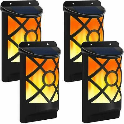 £11.99 • Buy Garden Solar LED Wall Lights Fence Door Shed Outdoor Fence Flickering Flame Lamp