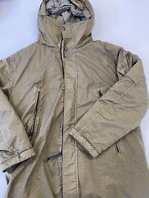 CP COMPANY PROTEK HOODIE PADDED LINED JACKET GREEN Size 50 • 150£