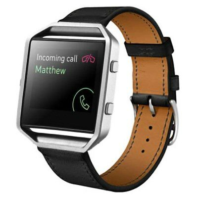 $ CDN17.25 • Buy Fitbit Blaze BLACK Replacement Band Genuine Leather Strap Classic Adjustable