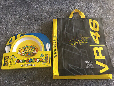 £15 • Buy Official VR46 Baby Meal Set Cutlery Sun Moon Valentino Rossi Kids Yamaha Doctor