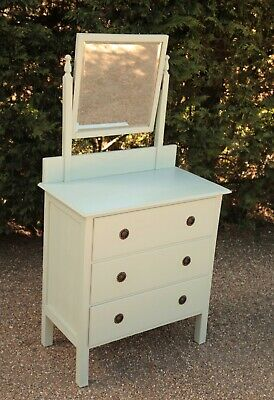£100 • Buy Edwardian / Early 20th C. Chest Of Drawers With Vanity Mirror / Dressing Table.