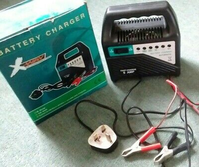 AU26.98 • Buy CAR BATTERY CHARGER 6 Amp 12 Volt Jump Portable Hardly Used Good Condition BOXED