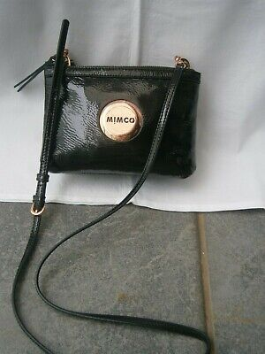 AU36 • Buy Mimco Secret Couch Hip Crossbody Leather/patent Leather Black Bag.po#1953829