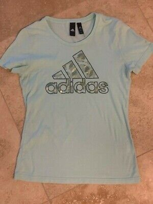 AU1.05 • Buy Ladies XS Adidas Green T-shirt  EXCELLENT CONDITION