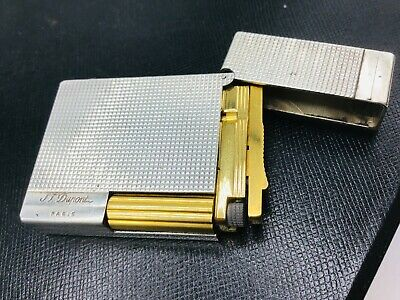 AU308.06 • Buy ST Dupont Gatsby Lighter Silver Plated Diamond Head W/ Gold Accents Soft Flame