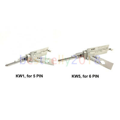 $ CDN59.88 • Buy KW1 For 5 PIN, KW5 For 6 PIN Lishi 2 In 1 Decoder Lock Plug Reader For Kwikset
