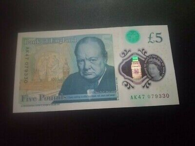 Very Rare £5 Pound Note AK47 $$$$$$ Gangster Number • 24.99£