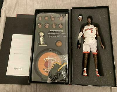 $120 • Buy ENTERBAY Lebron James Miami Heat Limited Edition Action Figure 12 Inch 1/6 Scale