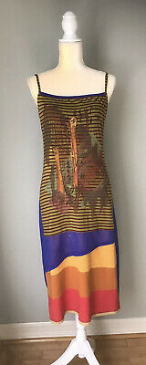 AU117.97 • Buy Awesome Save The Queen Multi Colored Tulle Mesh Midi Dress Size M