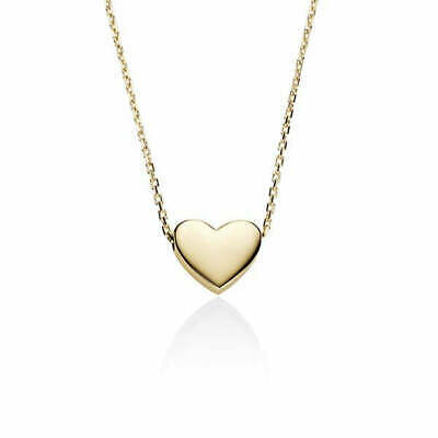 AU125 • Buy 9ct Yellow Gold Slider Heart Necklace