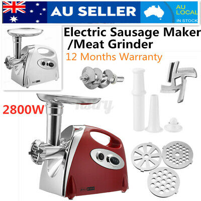 AU48.89 • Buy 2800W Electric Sausage Filler Maker Meat Grinder Mincer Stuffer Foo