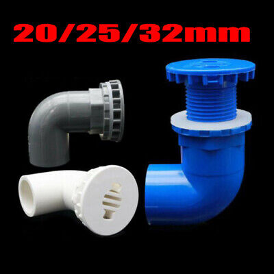 £3.29 • Buy 90 Degree Elbow PVC Aquarium Fish Tank Inlet Outlet Fitting Joint ID 25/20/32mm
