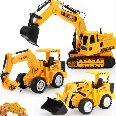 Remote Control 5 Function Excavator RC Bulldozer Truck Toy Digger Car Buggy Toys • 11.89£