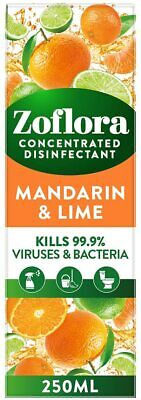 £4.09 • Buy Zoflora Mandarin & Lime Multi-purpose Concentrated Disinfectant Bacteria 250ml