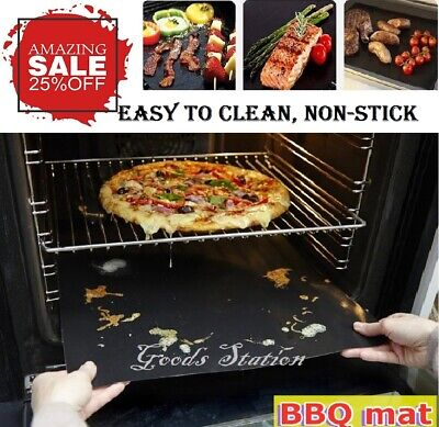 £4.98 • Buy BBQ Grill Mat Mesh Fish Meat Reusable Sheet Resistant Non-Stick Baking Cooking