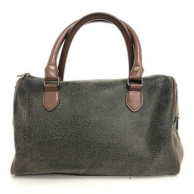 AU15.33 • Buy John Lewis Holdall Barrel Bag Brown Medium Faux Leather Snake Grab Handle 012183