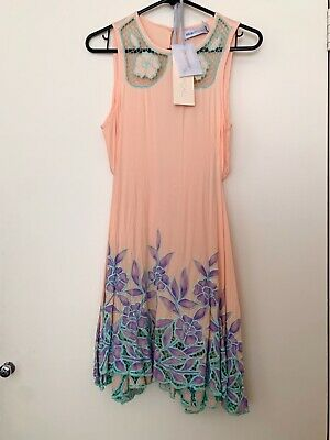 AU60 • Buy Alice McCall Peach And Mint Green Lace Dress