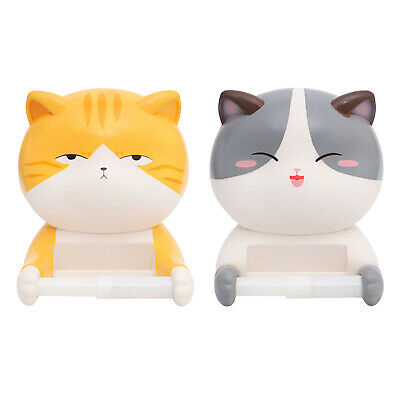 AU23.36 • Buy Cat Shape Toilet Paper Holder Dispenser Tissue Storage Stand Rack Decoration