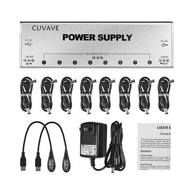 AU63.99 • Buy Guitar Effects Pedals Processsor Power Supply 9 Way Outputs 9V 12V + 8 Lines