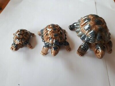Wade Porcelain China Small, Medium And Large One Is A Trinket Tortoise Ornaments • 8£